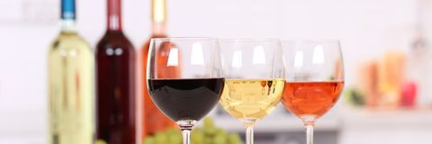 Wine white red rose banner copyspace stock images