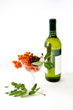 Wine and wild ash Royalty Free Stock Image