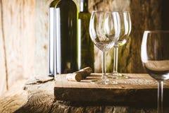 Wine in wine cellar Stock Images