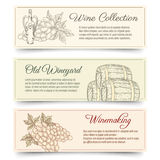 Wine and wine making banners Stock Images