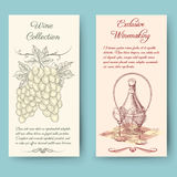 Wine and wine making vertical banners Stock Image