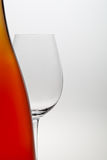 Wine and wineglass Royalty Free Stock Photo