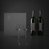 Wine and wineglass Stock Photo
