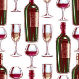 Wine and wineglasses Royalty Free Stock Photography
