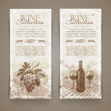 Wine and winemaking - grunge vintage banners Royalty Free Stock Photo