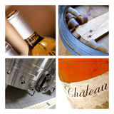 Wine and wineries. Wine, cellar and wineries on a collage Royalty Free Stock Photos