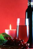 Wine With Candle Royalty Free Stock Photography