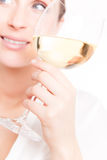 Wine woman royalty free stock image