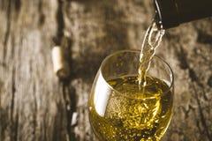 Wine on wood Royalty Free Stock Image