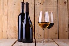 Wine on wood Stock Photos
