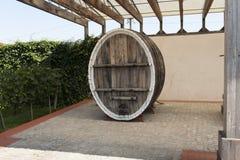 Wine wooden oak barrel photo Stock Photos