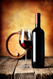 Wine on wooden table Royalty Free Stock Photos