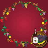 Wine wreath Stock Image