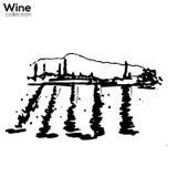 Wine yard hand sketch. Wine yard hand drawn vector sketch vector illustration
