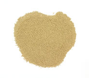 Wine yeast. For making home made wine on a white background stock photo