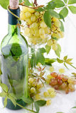 Wine and young grape Royalty Free Stock Photography