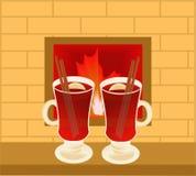 Wine1 reflexionado sobre Imagen de archivo
