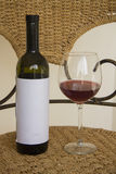 Winebottle with red wine Stock Photography