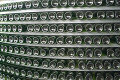 WineBottleWall Royalty-vrije Stock Afbeeldingen