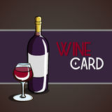 WIneCard4 Royalty Free Stock Image