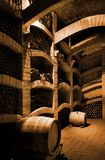 Winecellar Fotografie Stock