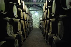 Winecellar Oporto imagen de archivo