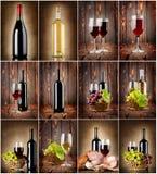 Winecollage Arkivfoton