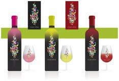 Wineetikett Fotografering för Bildbyråer