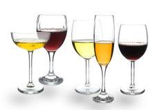 Wineexponeringsglas Arkivbilder