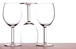 Wineexponeringsglas arkivfoton