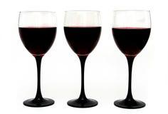 Wineexponeringsglas arkivfoto