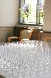 Wineexponeringsglas för mottagande royaltyfria bilder