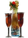 Wineexponeringsglas med champagne Fotografering för Bildbyråer