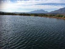 Winefarm. Wine mountain water clouds royalty free stock photography