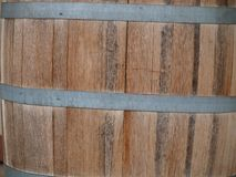 Beautiful Oak Planks Used In Wine Storage Kegs. The Winefest is nearing in Grapevine, Texas. The vinyards in Grapevine are running neck and neck with California royalty free stock image