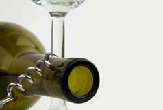 Wineflaska Arkivfoton
