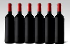 Wineflaskor Arkivbild