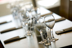 Wineglas σε ένα table.JH Στοκ Φωτογραφία
