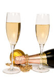 wineglas украшения рождества Стоковое Фото