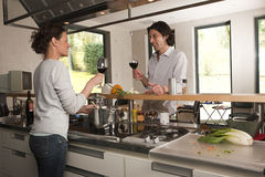 wineglases пар Стоковые Изображения RF