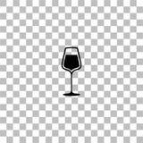 Wineglass εικονίδιο επίπεδο διανυσματική απεικόνιση