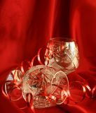 wineglass κορδελλών Χριστουγέν&nu Στοκ Εικόνες