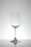Wineglass. With white background and refection Royalty Free Stock Photos