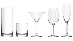 Wineglass. Vector wineglass isolated on white background Royalty Free Stock Photos