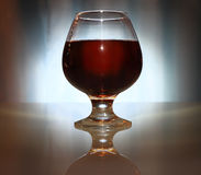 Wineglass of alcoholic beverage Royalty Free Stock Images