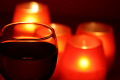 Wineglass And Candles Royalty Free Stock Image