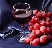 Wineglass And Grape Royalty Free Stock Photo