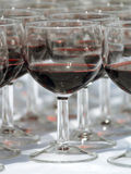 Wineglass array Stock Image