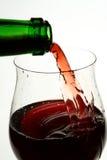 Wineglass av god fransk wine Royaltyfri Foto