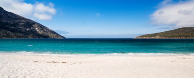 WIneglass Bay. Wide shot of the beach at Wineglass Bay, Tasmania Stock Photography